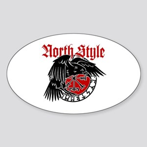 North Style Sticker (Oval)