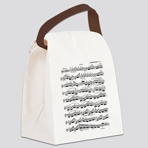 Flute Solo Canvas Lunch Bag