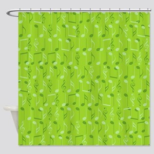 Small music notes Shower Curtain