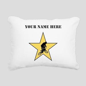 BMX Star (Custom) Rectangular Canvas Pillow