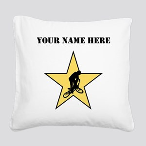 BMX Star (Custom) Square Canvas Pillow