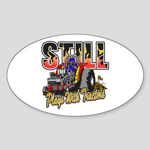 Tractor Pull Still Plays with Tract Sticker (Oval)