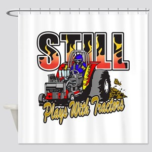 Tractor Pull Still Plays with Tract Shower Curtain