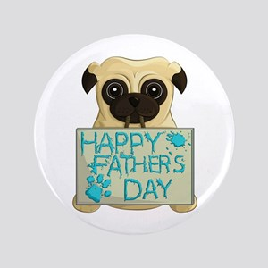Father's Day Pug Button