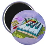 Colorful Piano Keys Purple Abstract Magnets 10 Pk