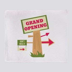 Grand Opening Throw Blanket