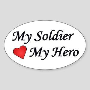 My Soldier My Hero US Army Oval Sticker