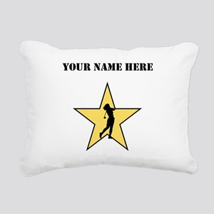 Golf Star (Custom) Rectangular Canvas Pillow