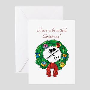 Beautician Christmas Greeting Card