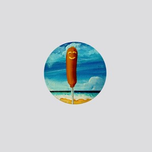 Corn Dog A The Beach Mini Button