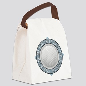 Golf - My Favorite Kind of Dimple Canvas Lunch Bag