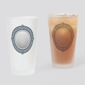 Golf - My Favorite Kind of Dimples Drinking Glass