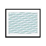 Mosasaurus Pattern Framed Panel Print