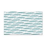 Mosasaurus Pattern Rectangle Car Magnet