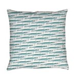 Mosasaurus Pattern Everyday Pillow