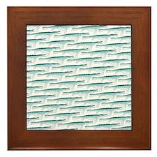 Mosasaurus Pattern Framed Tile