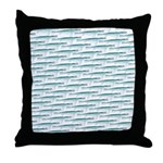 Mosasaurus Pattern Throw Pillow