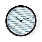 Mosasaurus Pattern Wall Clock