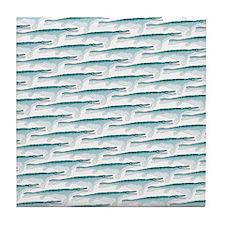 Mosasaurus Pattern Tile Coaster