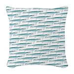 Mosasaurus Pattern Woven Throw Pillow