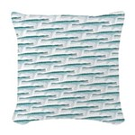 Mosasaurus Pattern Woven Throw Pillow