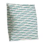 Mosasaurus Pattern Burlap Throw Pillow