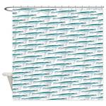 Mosasaurus Pattern Shower Curtain
