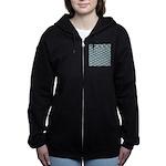 Mosasaurus Pattern Women's Zip Hoodie