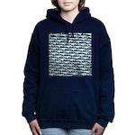 Mosasaurus Pattern Women's Hooded Sweatshirt