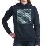 Mosasaurus Pattern Women's Hooded Sweatshirt