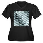 Mosasaurus Pattern Plus Size T-Shirt