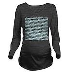 Mosasaurus Pattern Long Sleeve Maternity T-Shirt