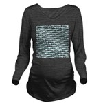 Mosasaurus Pattern Long Sleeve Maternity T-Shirt