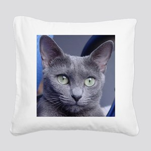 russian blue Square Canvas Pillow
