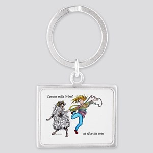 Dances With Wool / color Landscape Keychain
