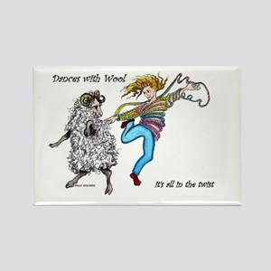 Dances With Wool / color Rectangle Magnet