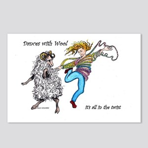 Dances With Wool / color Postcards (Package of 8)
