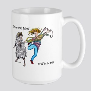 Dances With Wool / color Large Mug
