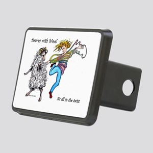 Dances With Wool / color Rectangular Hitch Cover