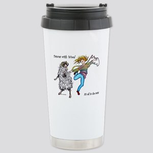 Dances With Wool / colo Stainless Steel Travel Mug