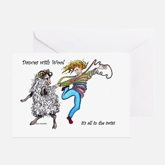 Dances With Wool / color Greeting Card