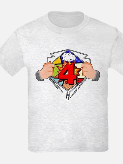 4th Birthday Comic T-Shirt