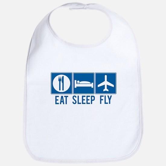 eat sleep fly Baby Bib