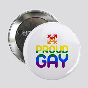 "Proud Gay (colored) 2.25"" Button"