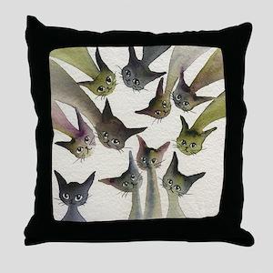 Kessells Stray Cats Throw Pillow