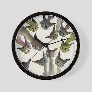 Kessells Stray Cats Wall Clock