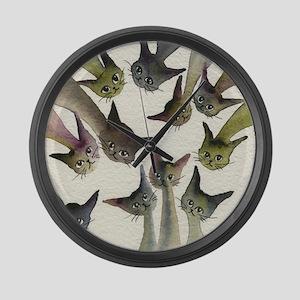 Kessells Stray Cats Large Wall Clock