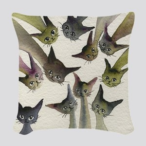 Kessells Stray Cats Woven Throw Pillow