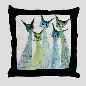 Lakeland Stray Cats Throw Pillow
