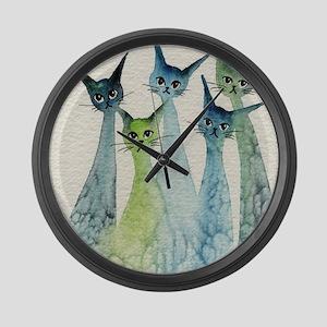 Lakeland Stray Cats Large Wall Clock
